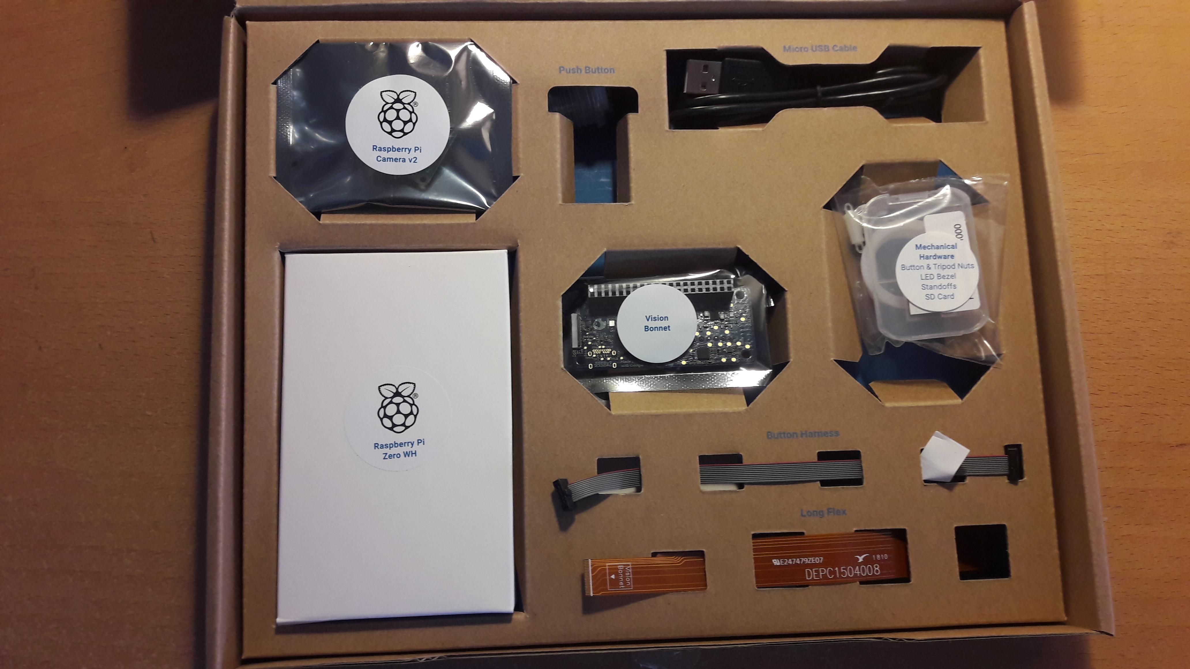 Vision Kit box contents