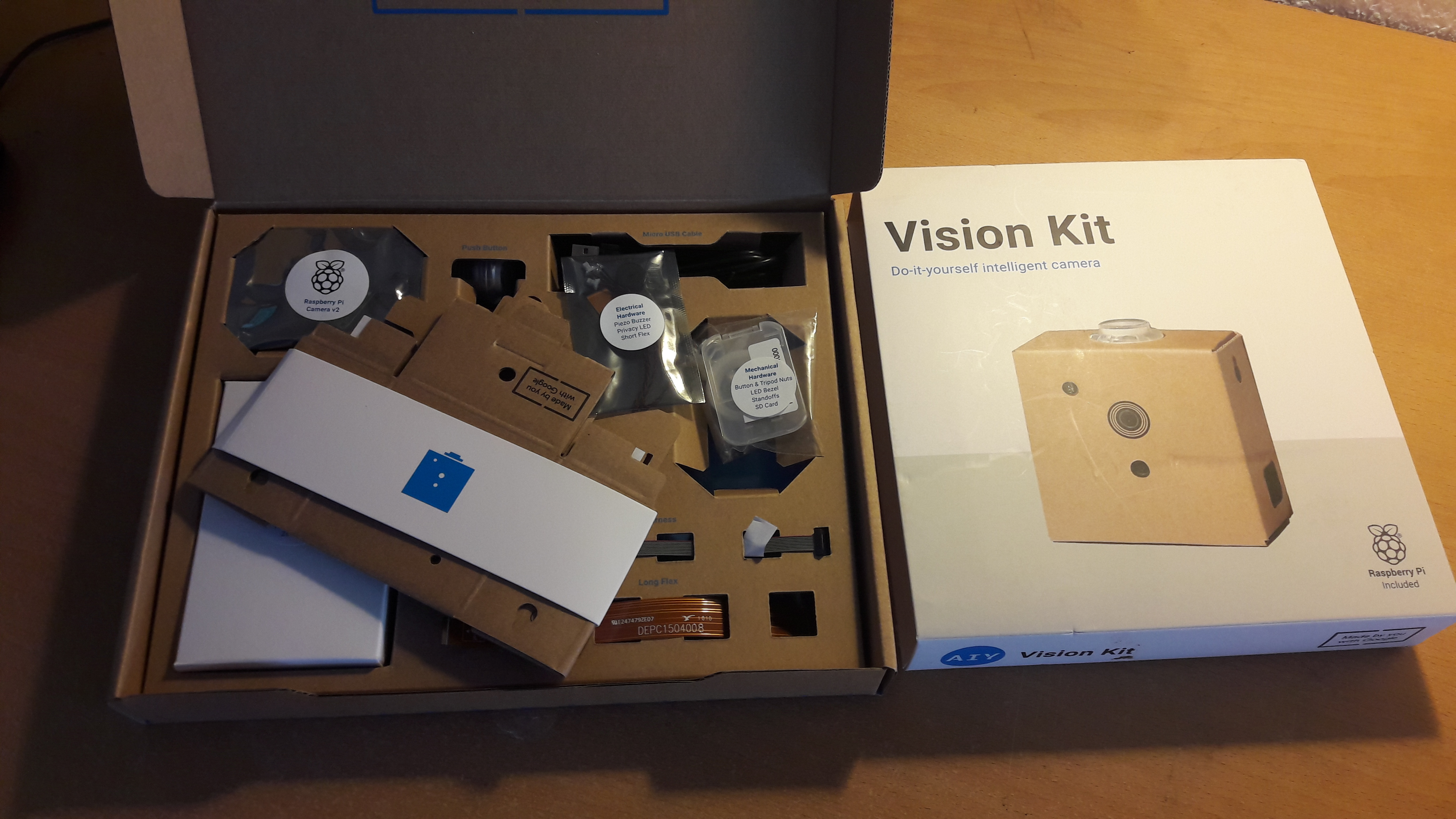 Vision Kit unboxed