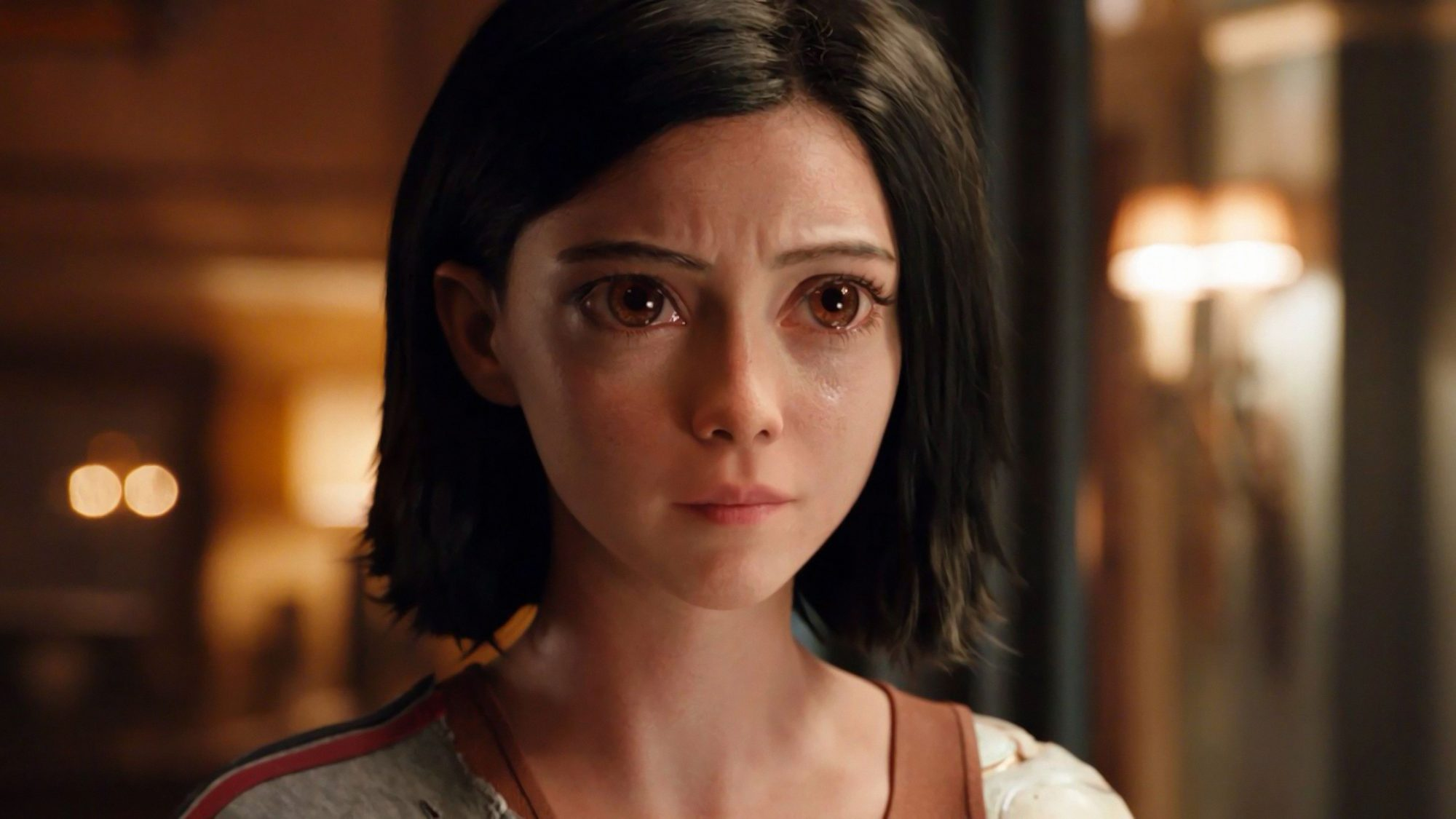 Rosa Salazar plays cyborg Alita in Alita Battle Angel