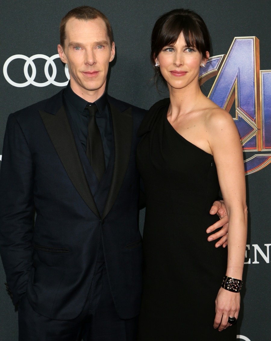 Evangeline Lilly and Benedict Cumberbatch at Avengers Endgame premiere
