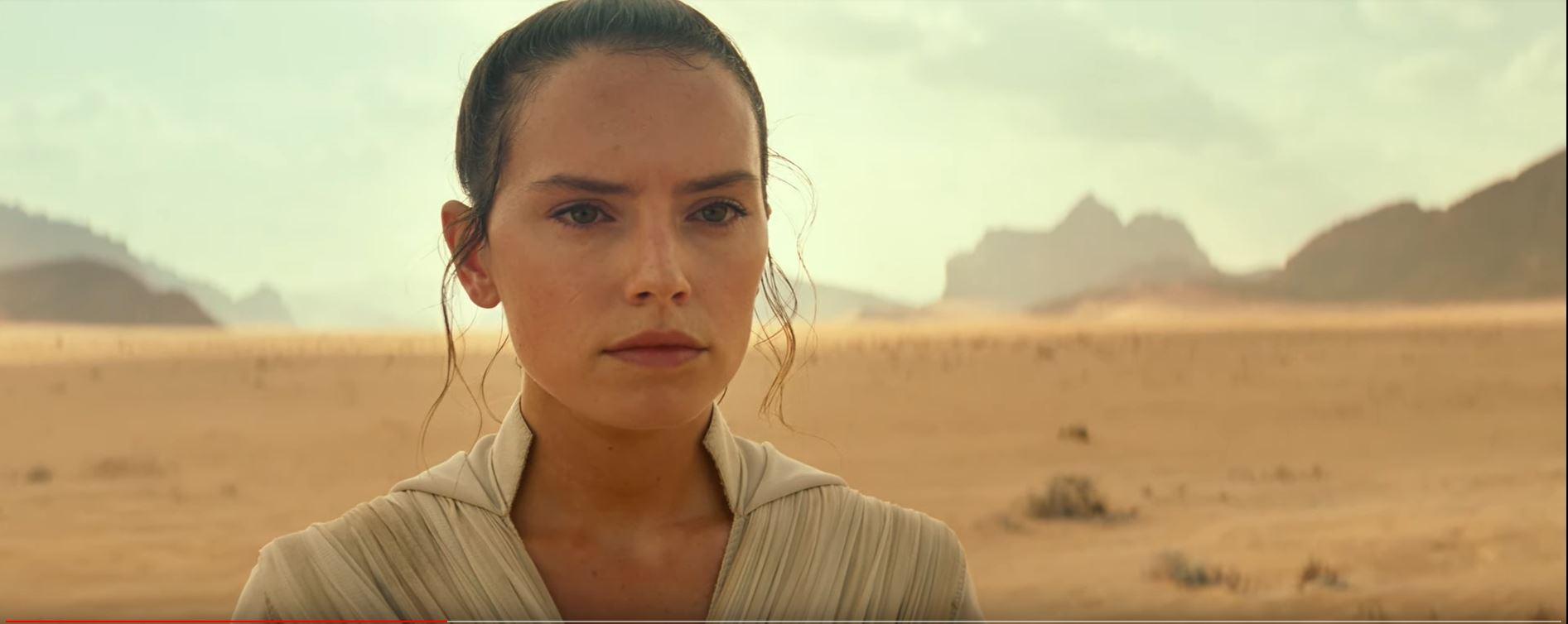 Star Wars The Rise of Skywalker Rey training in the desert