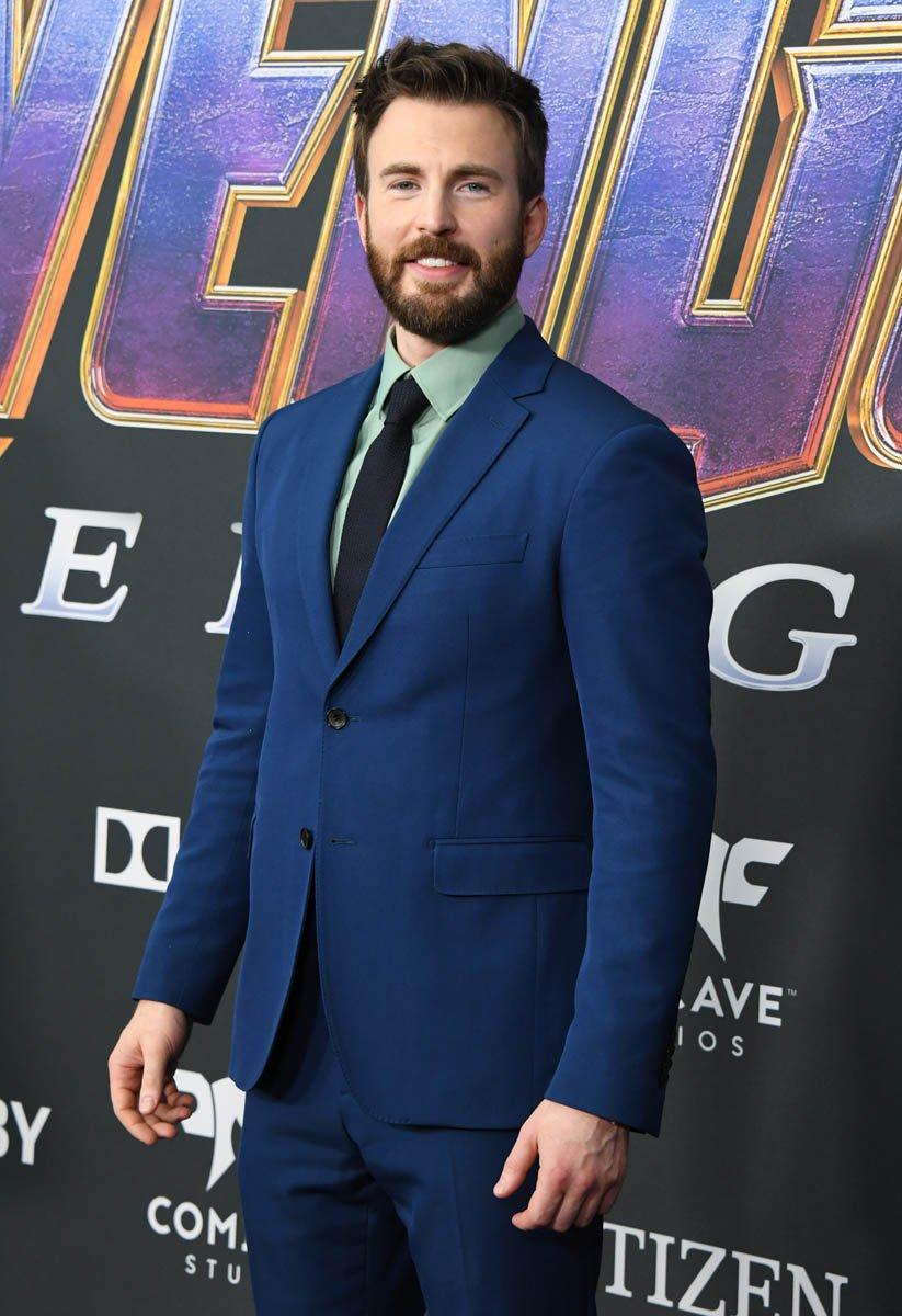 Chris Evans at Avengers Endgame premiere