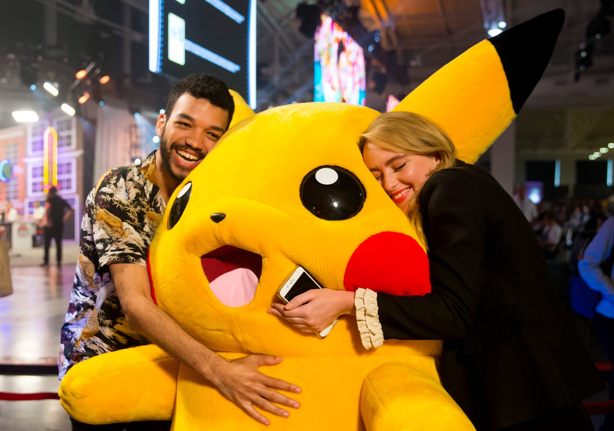 Pokémon Detective Pikachu Review - Kathryn Newton and Justice Smith