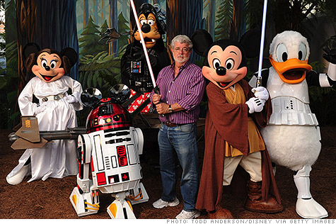 Star Wars and Disney studios - George Lucas v Mickey Mouse - George Lucas sells LucasFilm for 4 Billion!