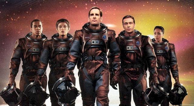 Enterprise season 1 Blu-ray cast (Scott Bakula and Jolene Blalock) Star Trek Enterprise Season 1 Blu-ray Review