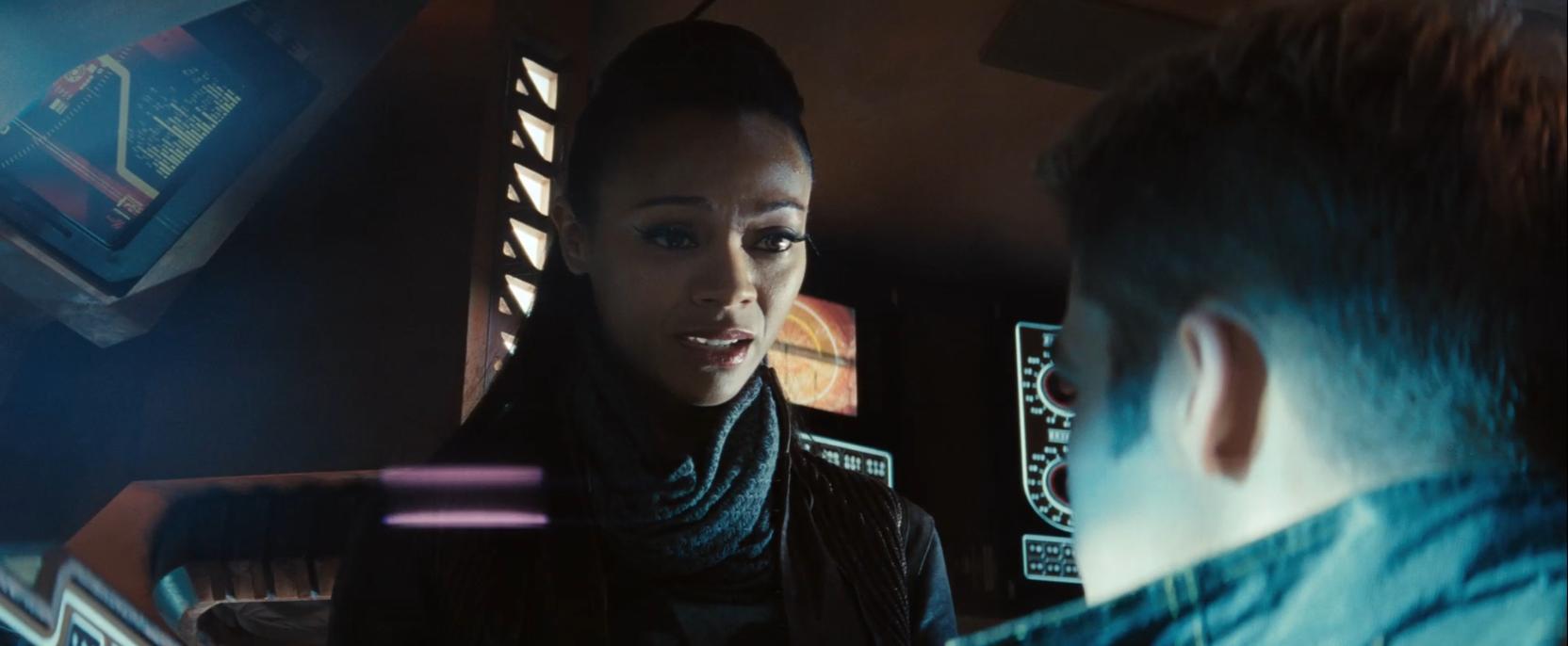 Zoe Saldana as Nyota Uhura in Star Trek Into Darkness