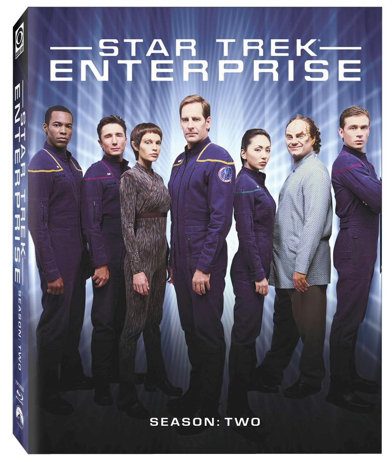 Star Trek Enterprise Season 2 Blu-ray Cover - Jolene Blalock and Scott Bakula - scifiempire.net