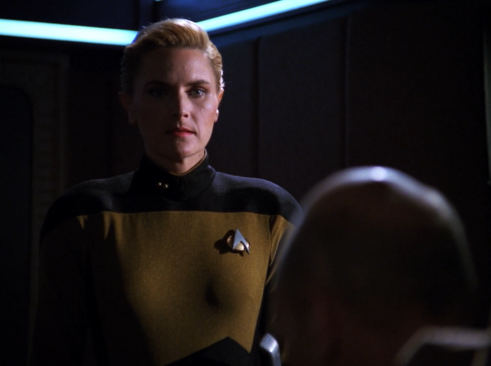 Tasha Yar (Denise Crosby) taking command of the Enterprise-C - Yesterday's Enterprise - Star Trek The Next Generation