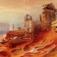 the planet mars in Destiny - Bungie artwork