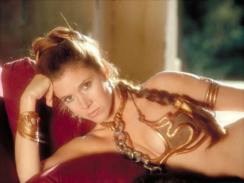 Leia in slave bikini laying down
