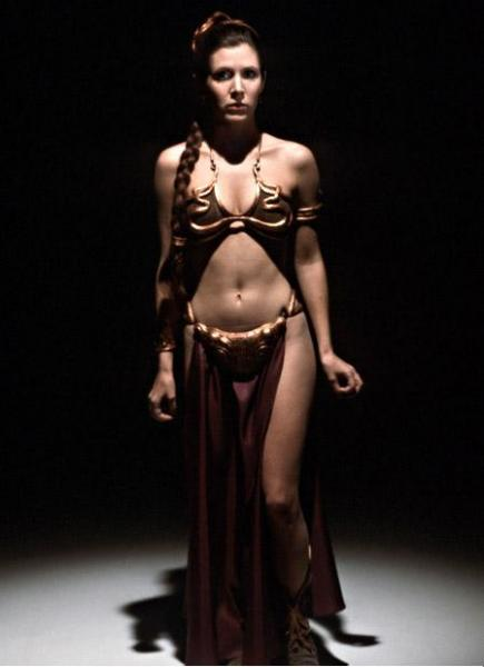 Rare picture of Slave Leia in Metal Bikini (Carrie Fisher)