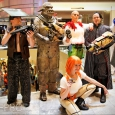 Five characters at Dragon Con 14