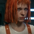 Milla Jovovich as Leeloo with orange hair - The Fifth Element