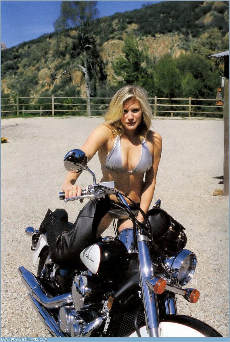 Katee Sackhoff on motorcycle