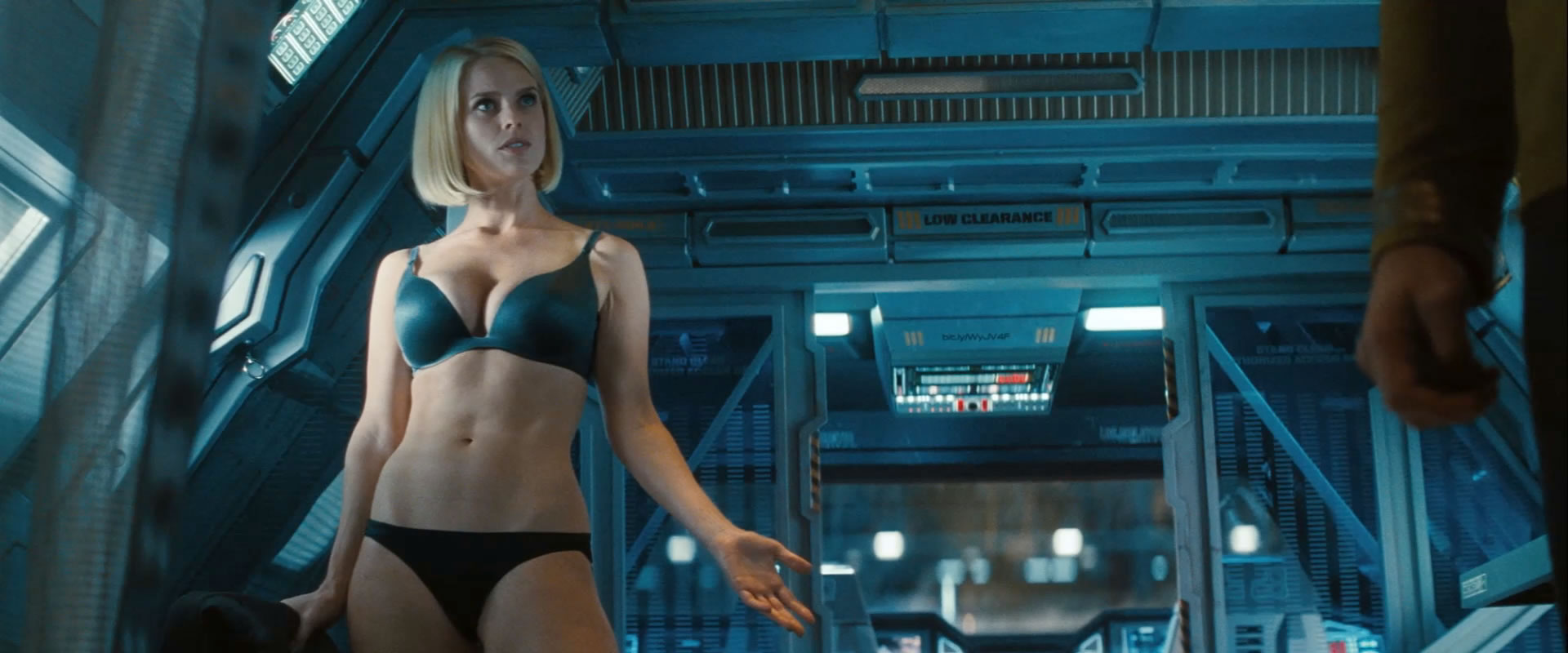 Alice Eve wearing bra and panties (lingerie) in Star Trek Into Darkness