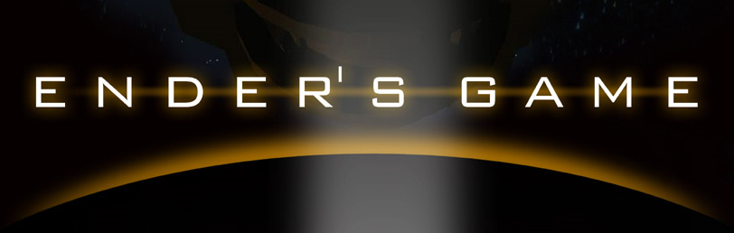 Ender's Game movie banner - Asa Butterfield and Abigail Breslin