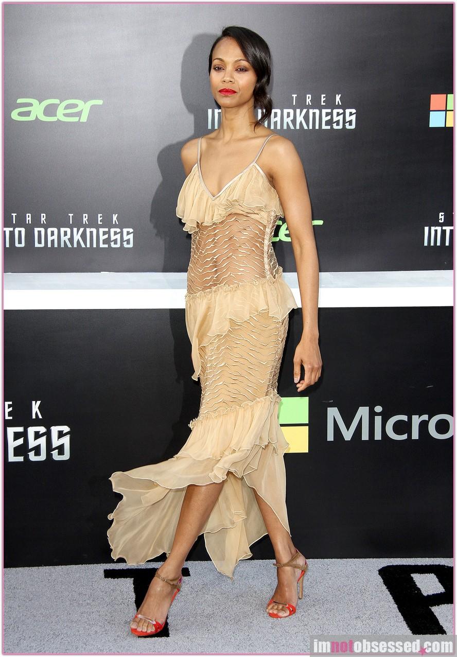 Star Trek Into Darkness premiere Zoe Saldana dress