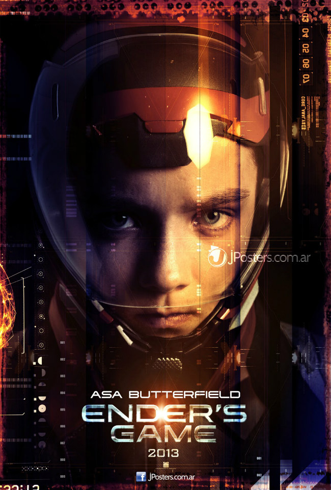 Asa Butterfield as Ender Wiggin in Ender's Game poster