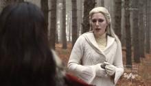 Defiance - Stahma (Jaime Murray) - the poison is on the flask