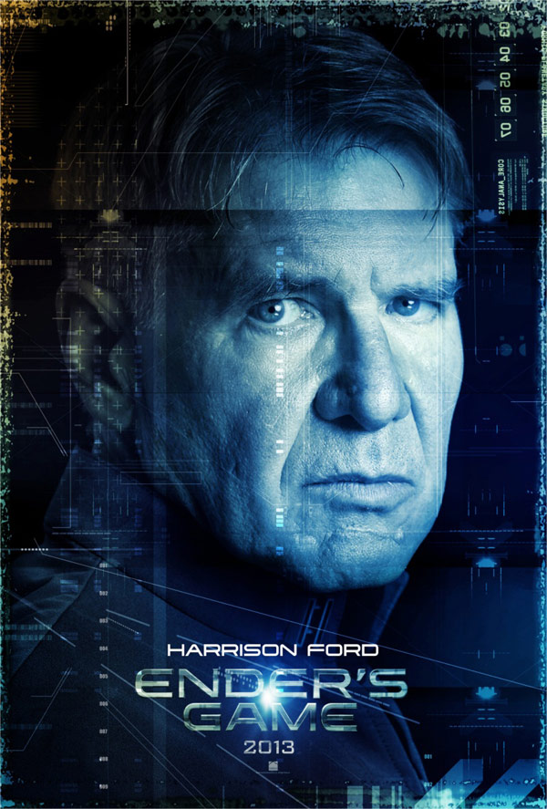Harrison Ford in Ender's Game poster