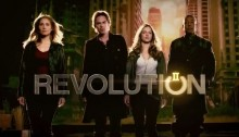 Revolution season 2 banner - Elizabeth Mitchell, Billy Burke, Tracy Spiridakos and Giancarlo Esposito