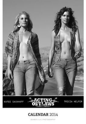 Acting outlaws Calendar 2014 - cover page featuring Katee Sackhoff and Tricia Helfer