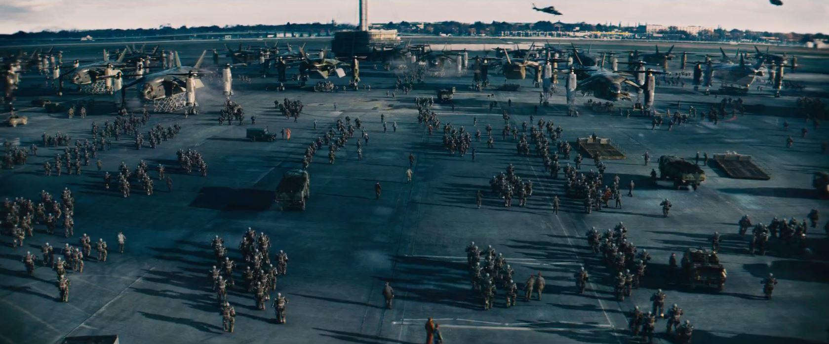 Edge of Tomorrow - Military build up