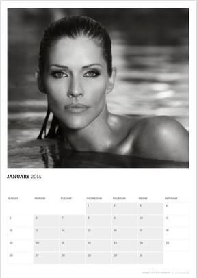 Tricia Helfer in acting outlaws 2014 calendar