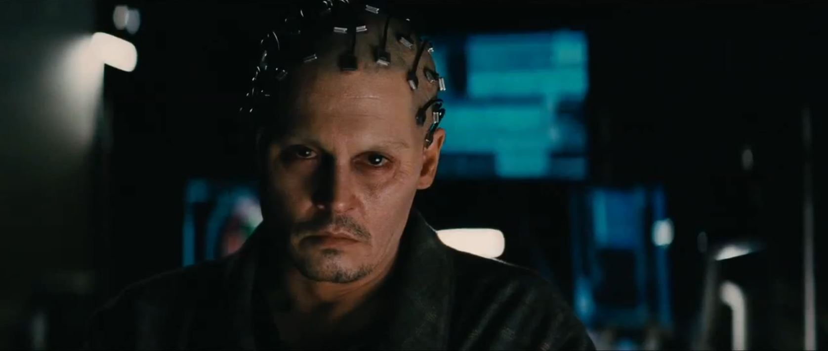 transcendence movie - Will Caster plugged in - Johnny Depp