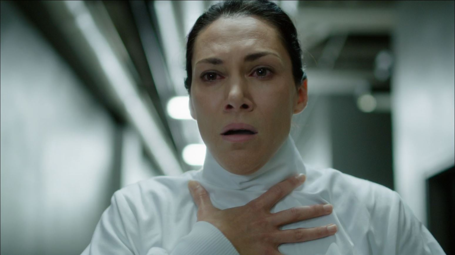 Helix - 274 - Dr. Julia Walker (Kyra Zagorsky) approached by infected Sulamani
