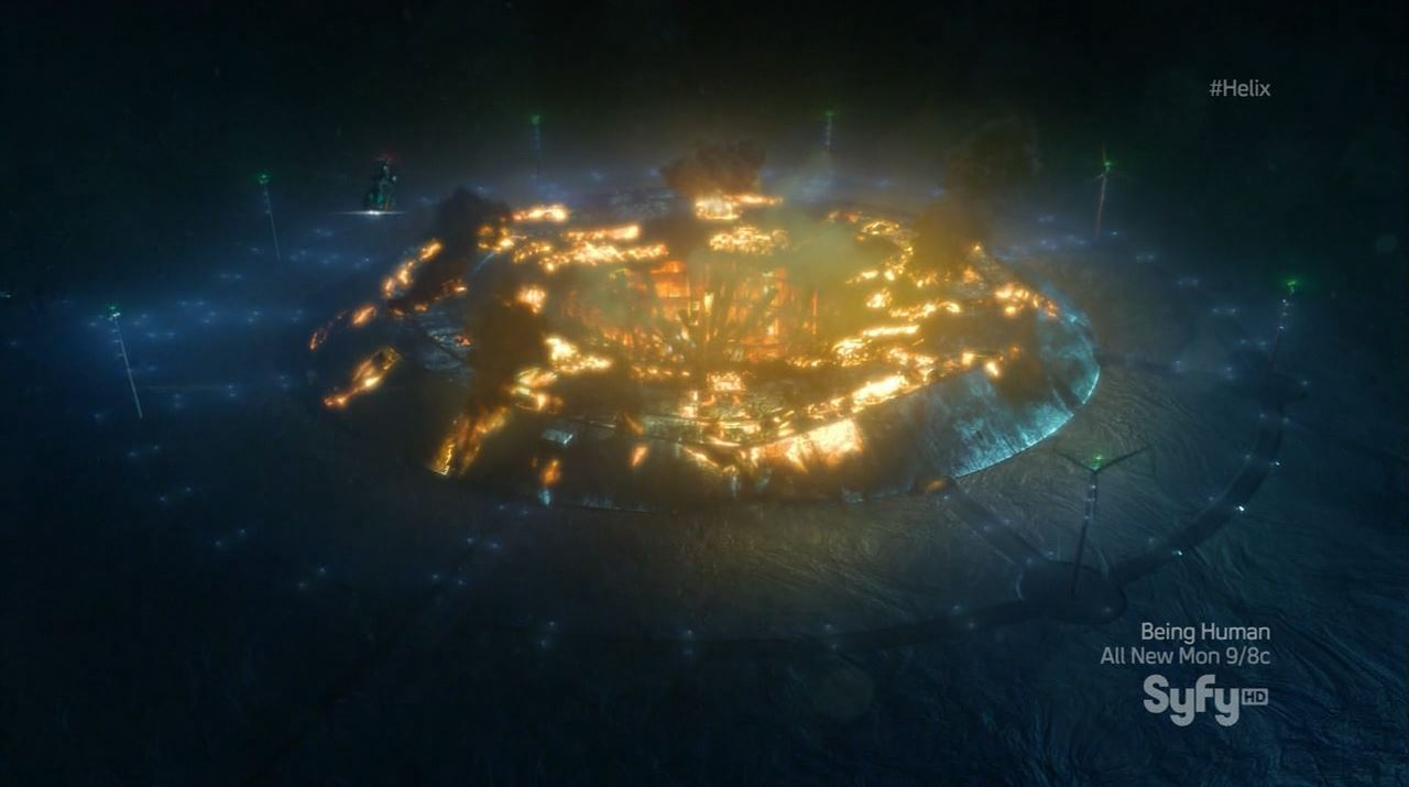 Helix season 1 finale - Arctic Research station destroyed