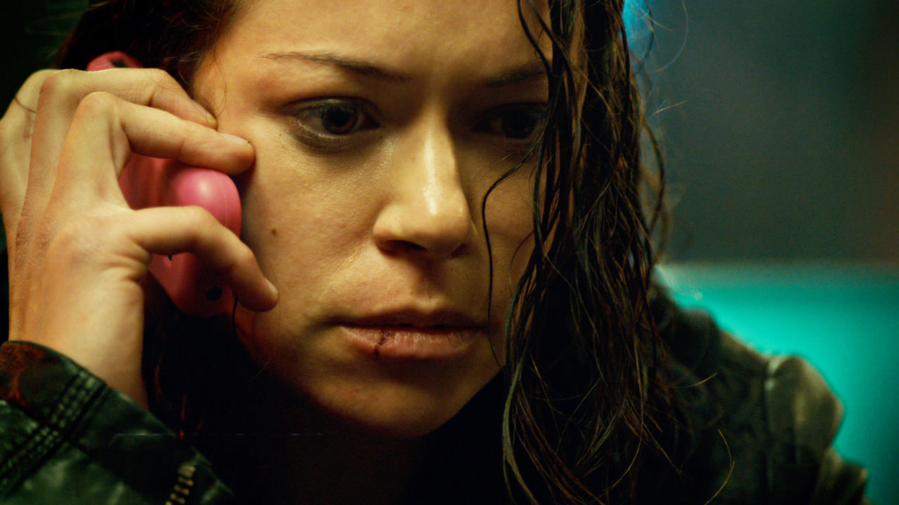 Tatiana Maslany as Sarah in Orphan Black season 2