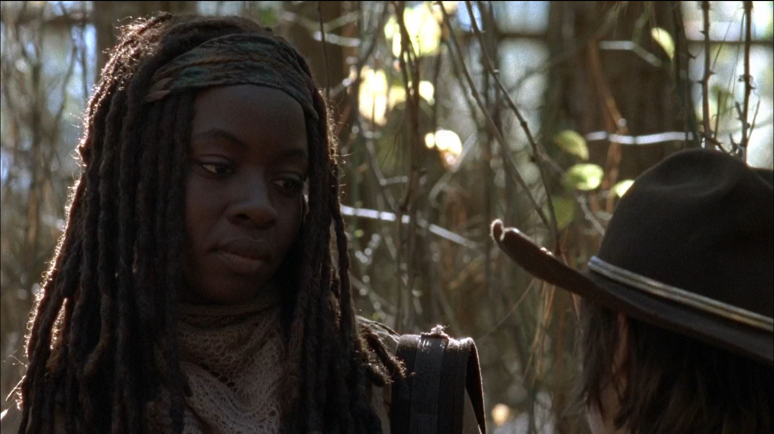 The Walking Dead season 4 finale -Michonne telling Carl what happened to her kid