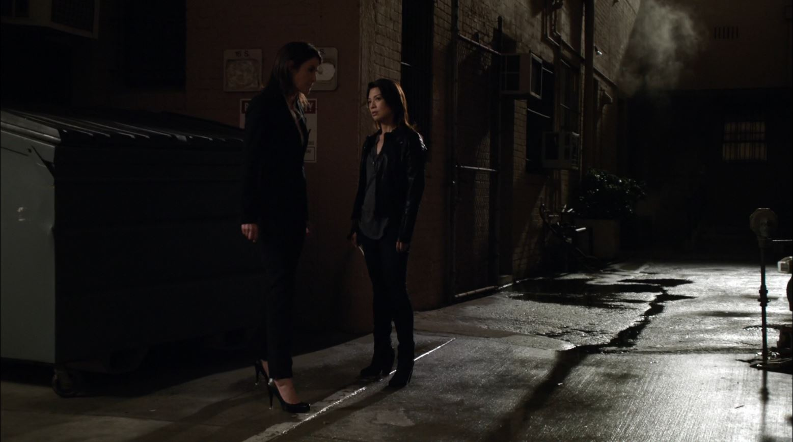 Agents of SHIELD S1Ep20 Nothing Personal - Maria Hill (Cobie Smulders) and Melinda May (Ming Na Wen)