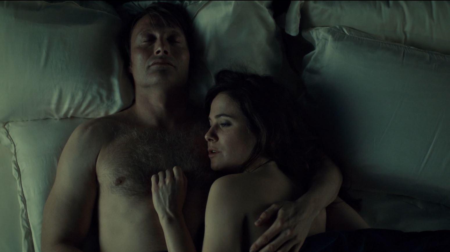 Hannibal Season 2 Episode 8 Su-zakana - Hannibal and Bloom in bed