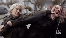 Continuum S3Ep8 So Do Our Minutes Hasten Review - Garza (Luvia Petersen) beats up a navy seal