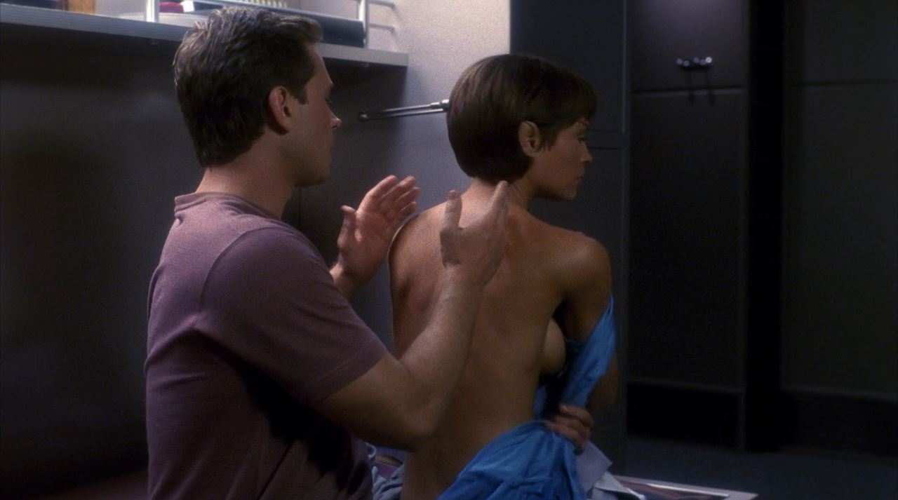 Jolene Blalock side boob Enterprise - T'Pol topless