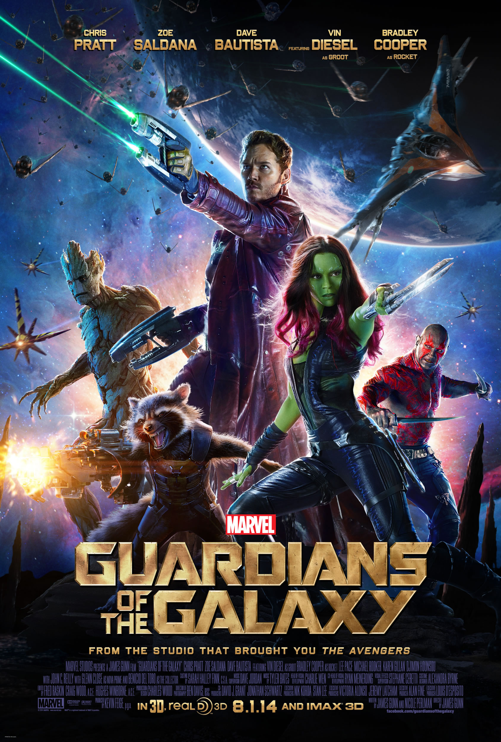 Guardians of The Galaxy poster Zoe Saldana - Guardians Of The Galaxy Extended Trailer