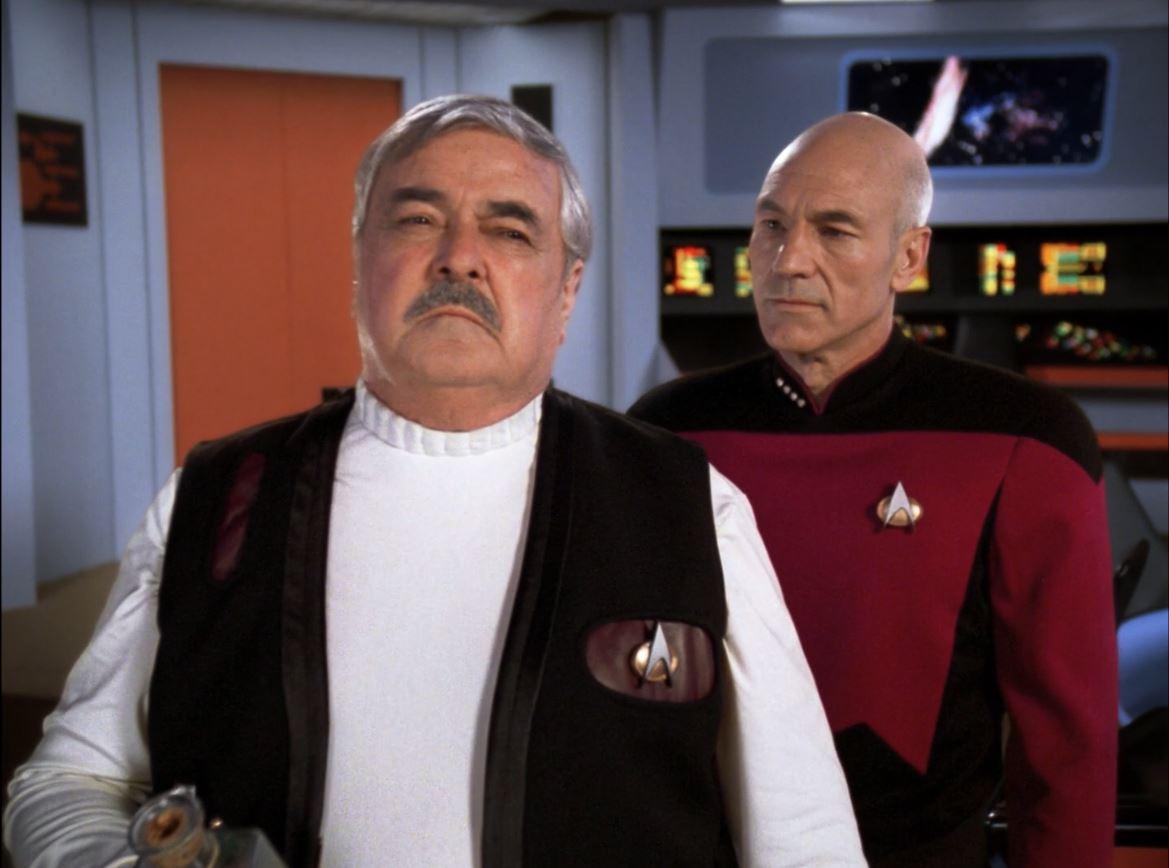 Star Trek The Next Generation Season 6 Blu-ray Review - Relics - James Doohan as Montgomery Scott