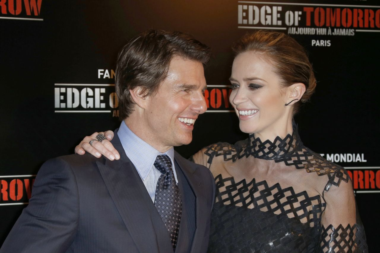 Tom Cruise and Emily Blunt at Paris premiere of Edge Of Tomorrow