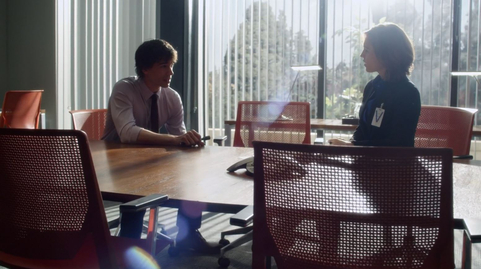 Covert Affairs S5Ep2 False Skorpion Review - Auggie arguing with Hayley