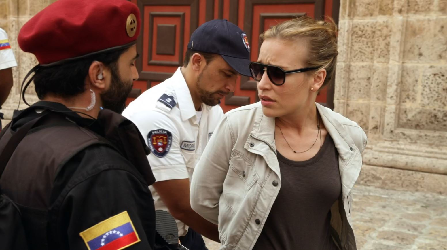 Covert Affairs S5Ep2 False Skorpion Review - Piper Perabo as Annie Walker trying to explain she is getting a boob job