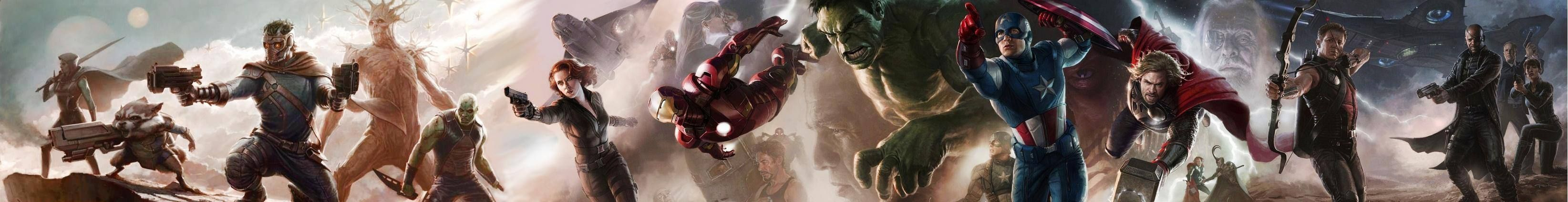 Guardians of the Galaxy and The Avenger cast combined