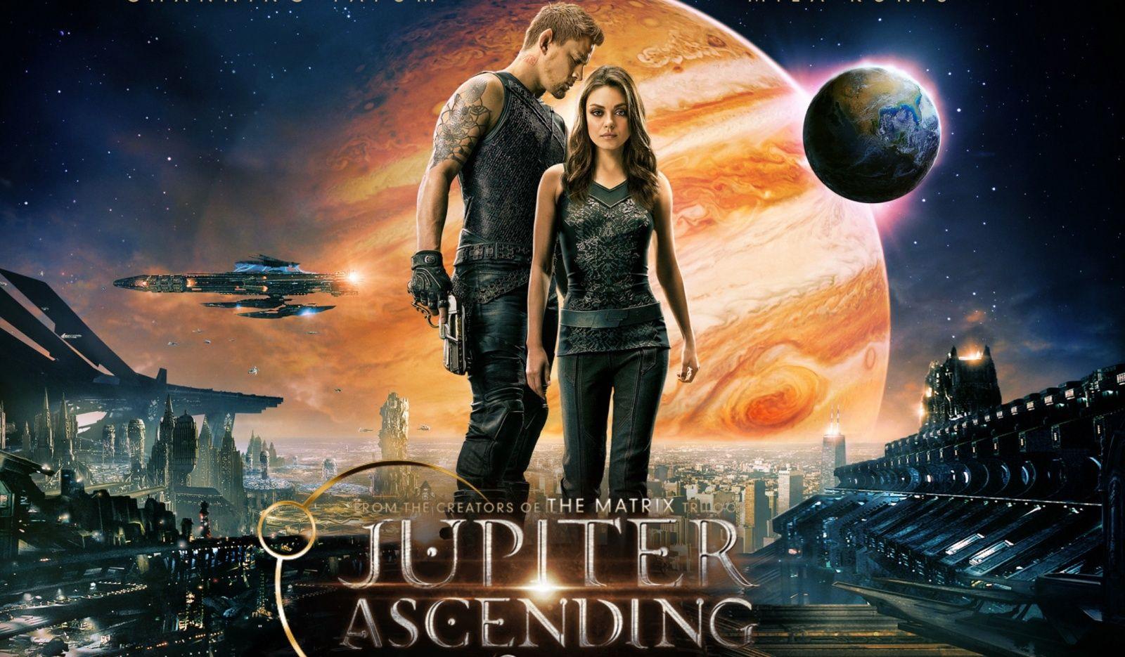 Jupiter Ascending Preview poster starring Mila Kunis and Channing Tatum