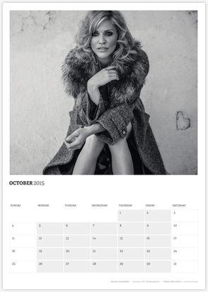 Acting Outlaws 2015 Calendar - Tricia Helfer in fur coat