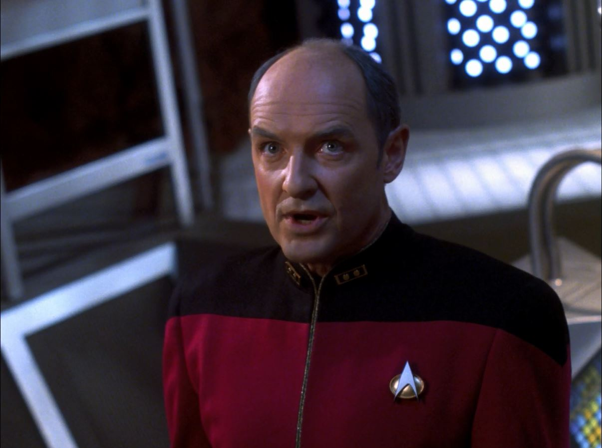 Star Trek TNG Season 7 Blu-ray Review. Terry O'Quinn as Captain Pressman
