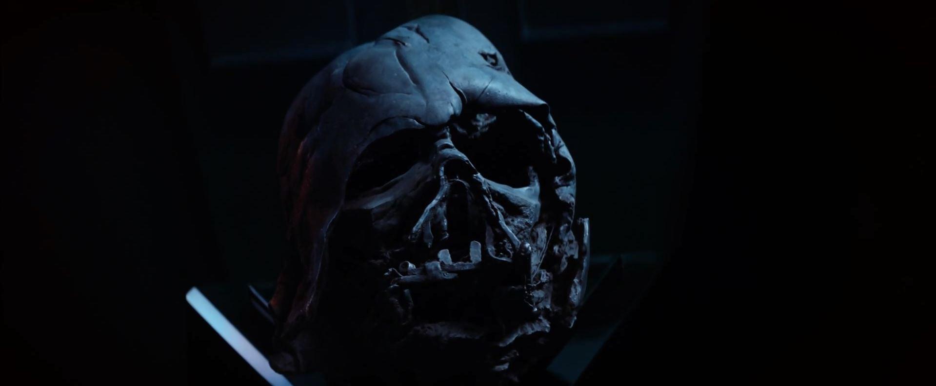 Darth Vader molten helmet. New Star Wars The Force Awakens Trailer Released!