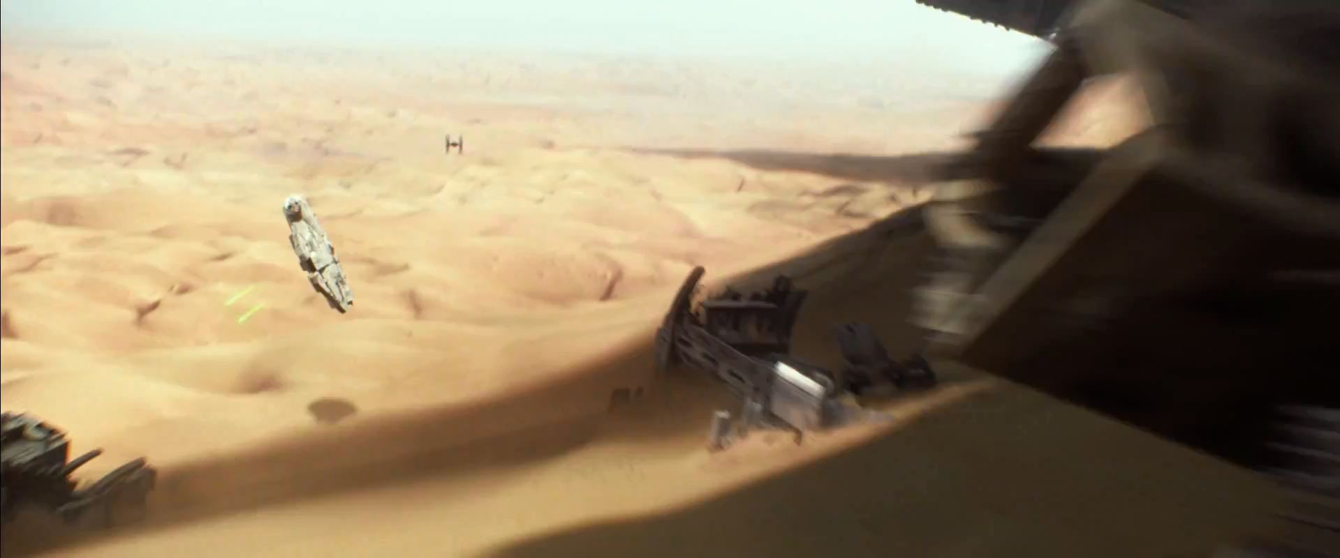 Milennium Falcon chased