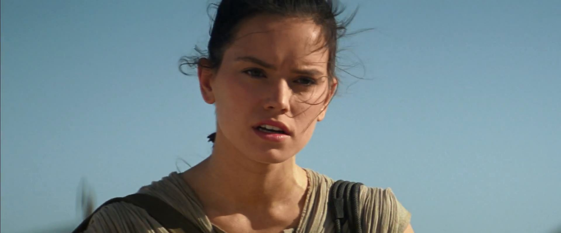 Rey (Daisy Ridley). New Star Wars The Force Awakens Trailer Released!