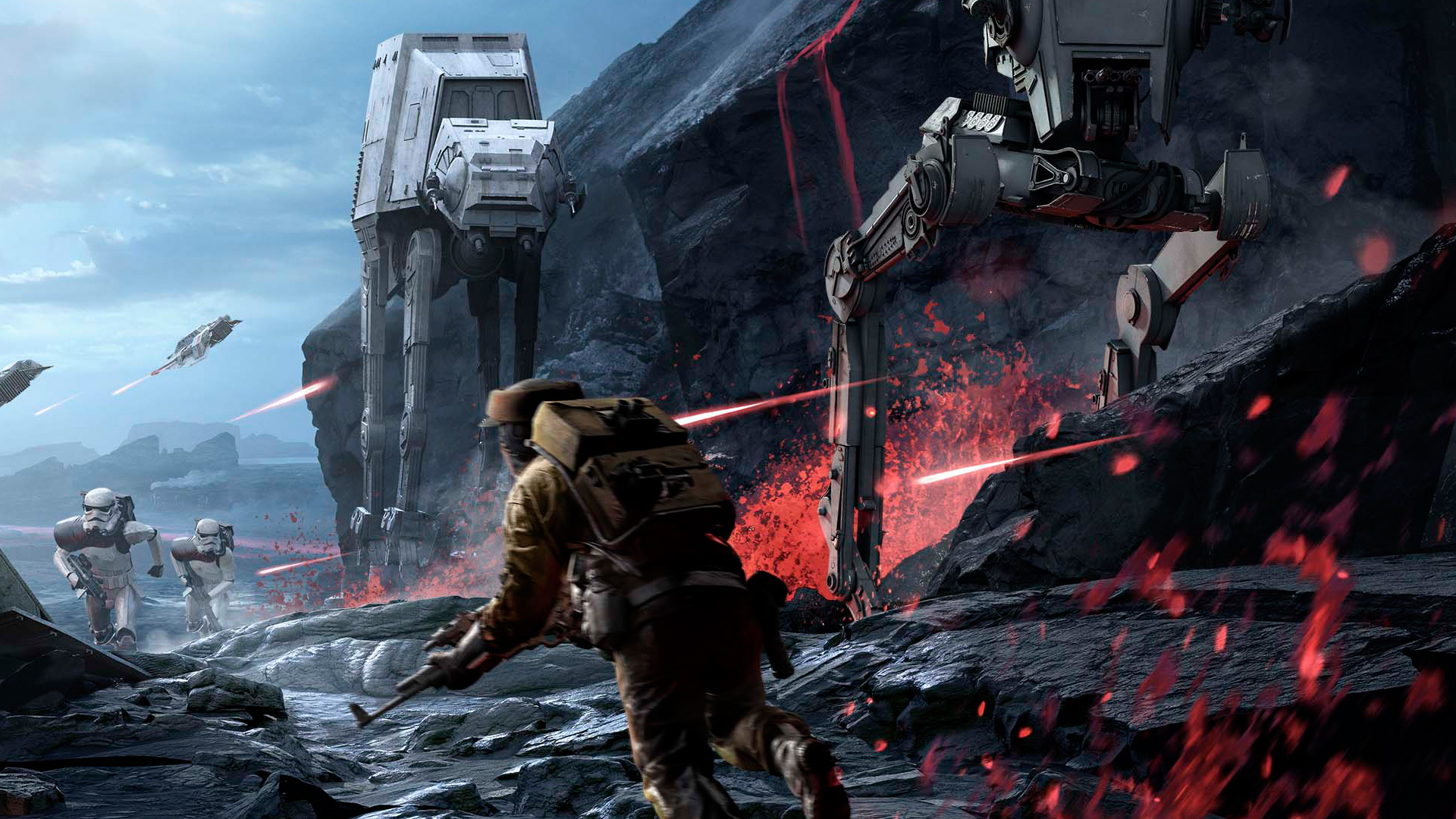 Star Wars Battlefront. Vulcano planet.